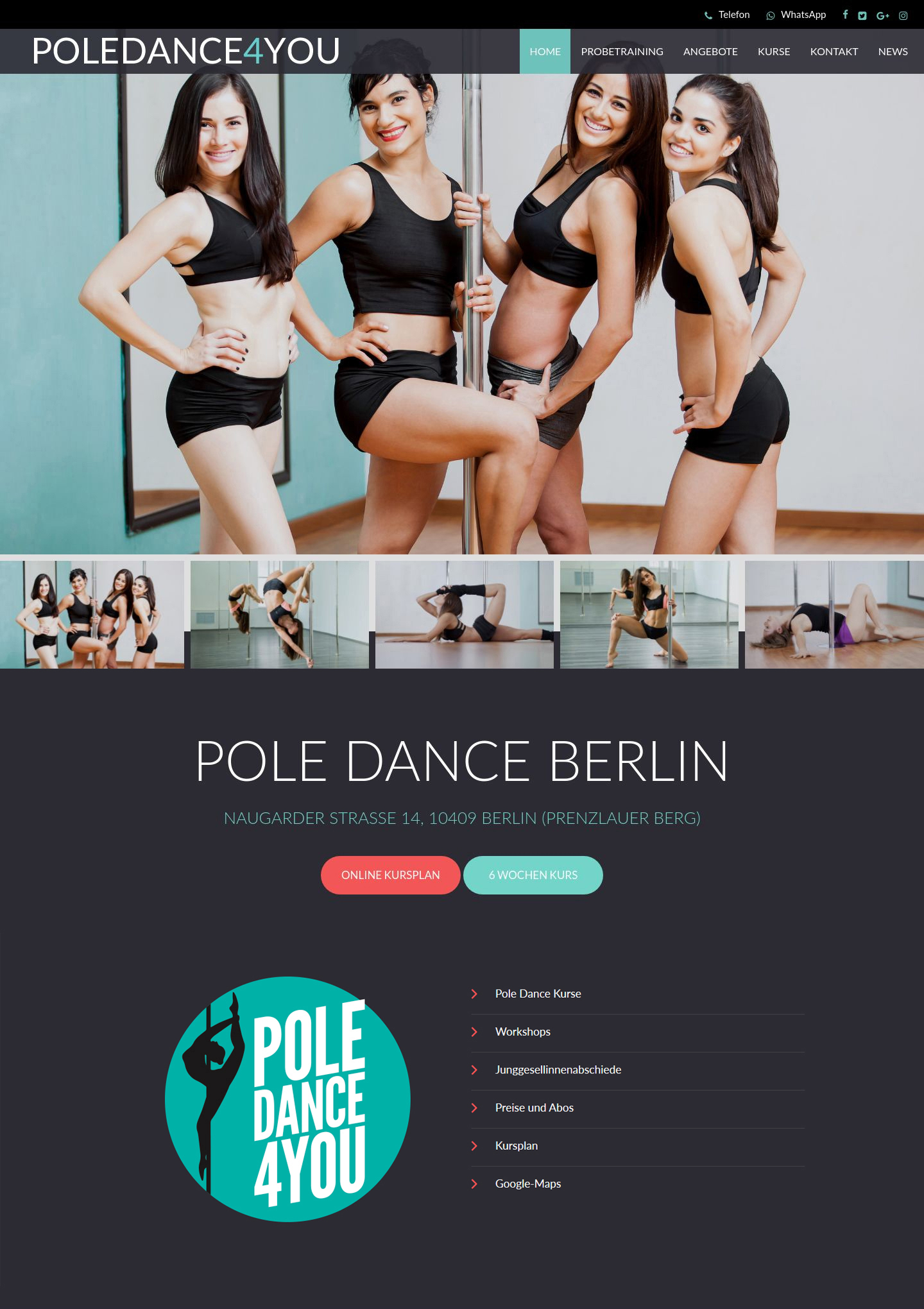 Poledance 4 You » Website Erstellung by J.R. Foto, Web & Design