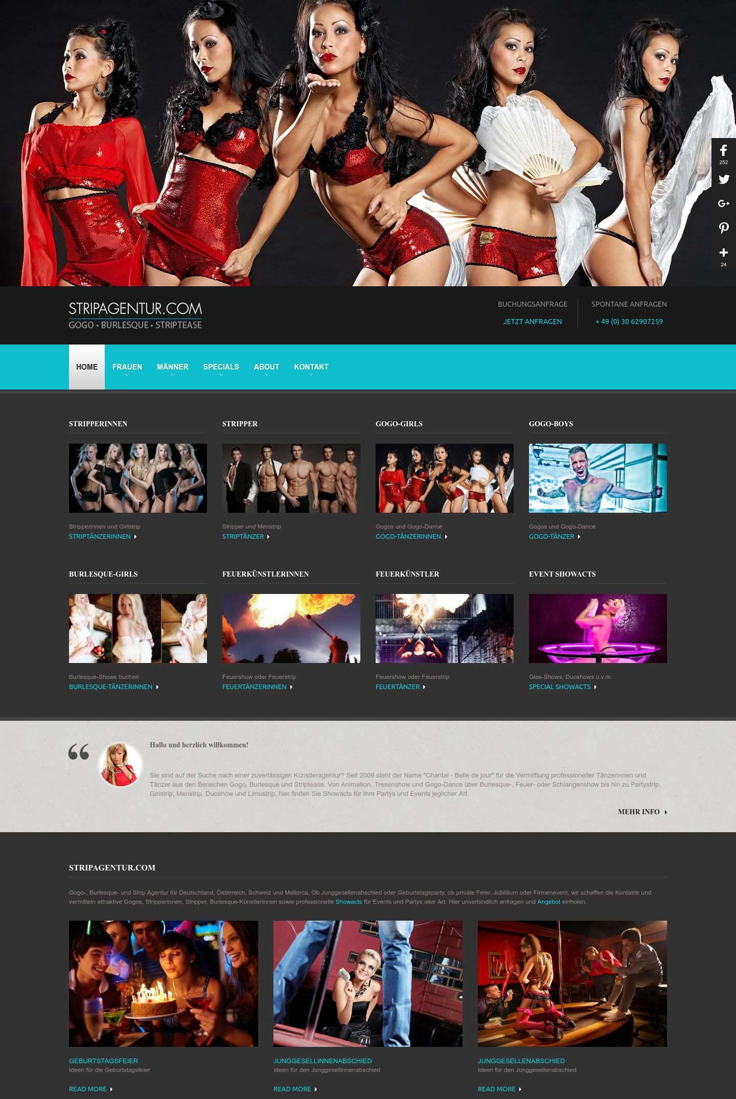 Stripagentur » Website Erstellung by J.R. Foto, Web & Design