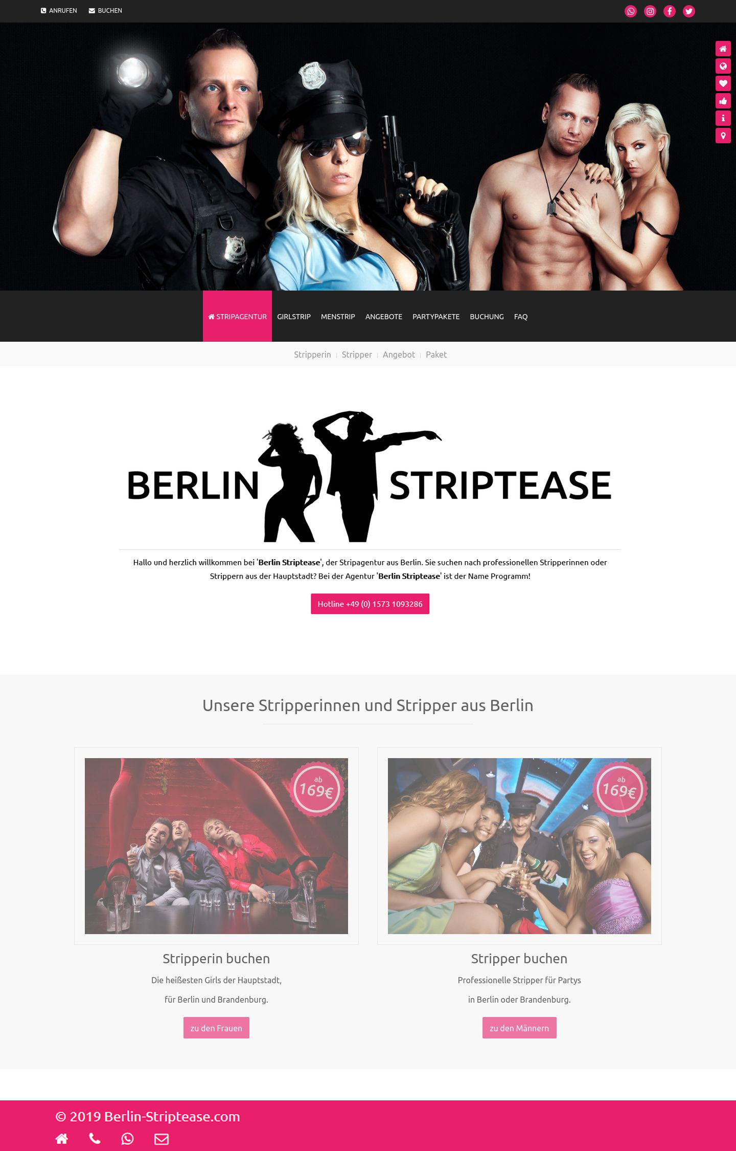Berlin Striptease » Website Erstellung by J.R. Foto, Web & Design